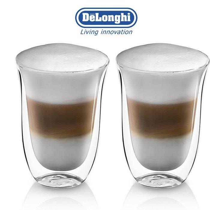 迪朗奇 Delonghi  2入  220ml *2  雙層 隔熱 玻璃杯 咖啡杯