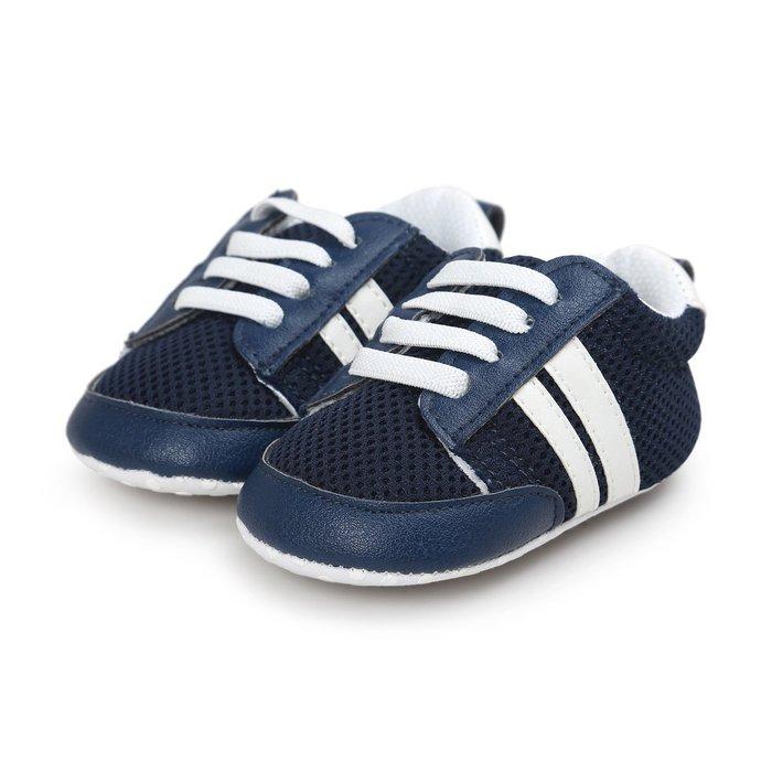 森林寶貝屋~特價~藍色透氣網布休閒球鞋~學步鞋~幼兒鞋~寶寶鞋~嬰兒鞋~學走鞋~童鞋~鬆緊帶設計~坐學步車穿~彌月贈禮