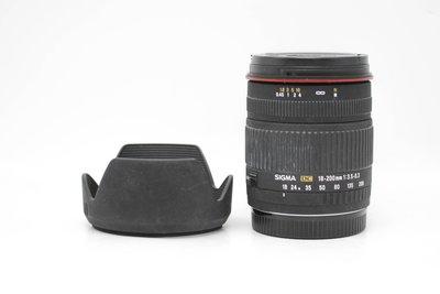 【高雄青蘋果3C】SIGMA 18-200MM F3.5-6.3 DC FOR CANON 二手鏡頭#62389