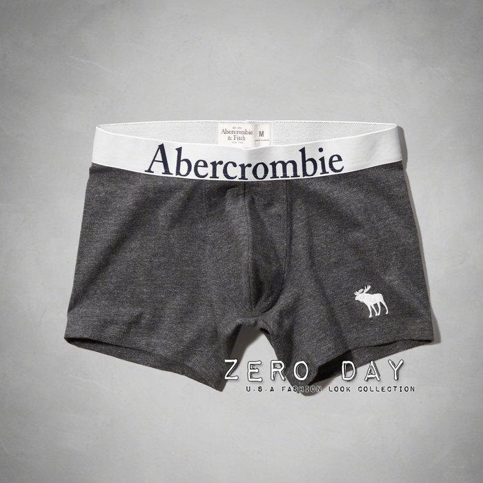 A&F Abercrombie&Fitch Classic Fit Boxer Beiefs舒適麋鹿刺繡四角褲/內褲灰色