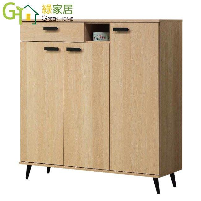 【綠家居】安卡利 現代4尺三門單抽鞋櫃/收納櫃