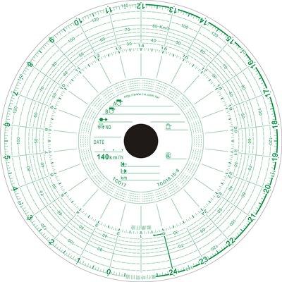 行車紀錄紙 行車記錄紙 140K/圓孔 路碼表 大餅紙 TACHOGRAPH CHART RECORDING PAPER
