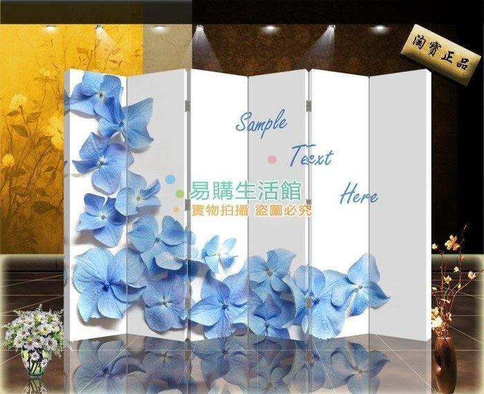 中式屏風家具屏風隔斷玄居時尚折屏唯美簡約花瓣595【單扇防水】