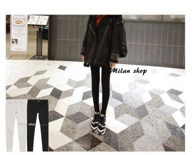 ☆Milan Shop☆網路最低價 正韓Korea獨家款 rex超級瘦加厚內刷毛九分窄管褲2色$880(免運)現貨 新北市