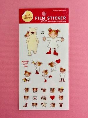 *COSY CORNER* COCO and Wondrous Gang 日本製 多次貼 貼紙/裝飾/包裝素材 紅色款