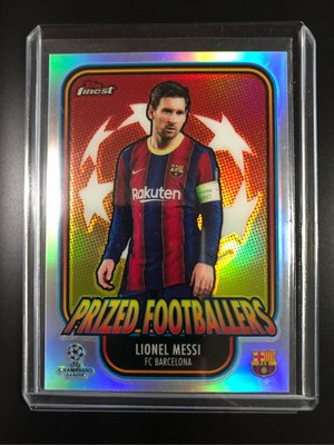 2020-21 Topps Finest Champions League  Lionel Messi Prized Footballers #PF-LM