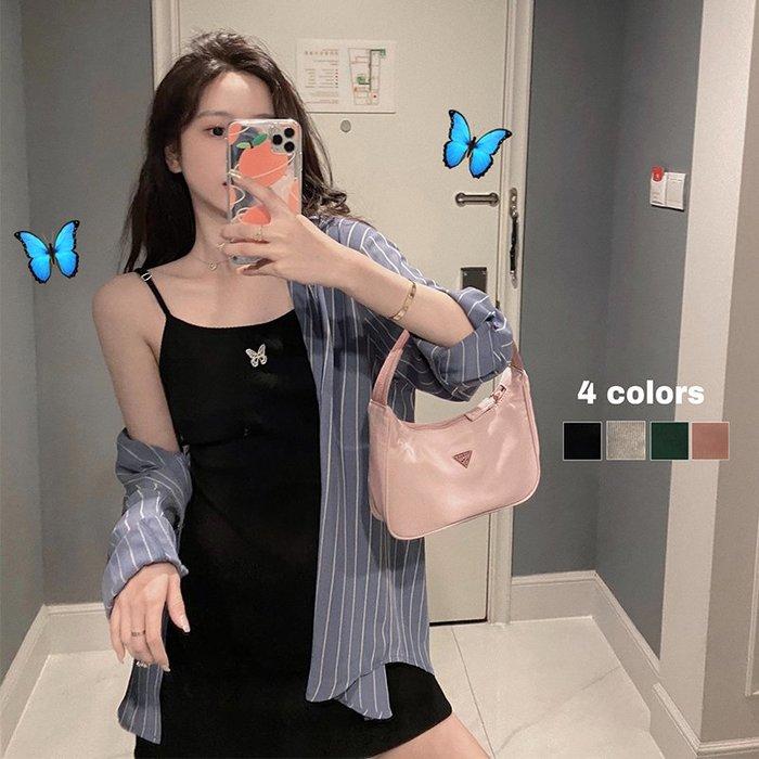 ❤Princess x Shop❤蝴蝶刺繡收腰修身針織吊帶連身裙TM09-59-17韓國同款