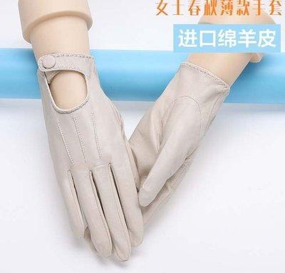 新款羊皮手套 秋冬季真皮手套聚會優雅女士手套1002
