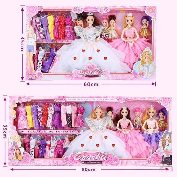 芭比娃娃音樂眨眼換裝芭比洋娃娃套裝大禮盒別墅城堡兒童女孩公主玩具婚紗XW海淘吧/海淘吧/最低價DFS0564