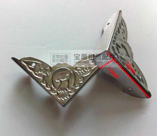 相框印花包角 銀色帶花小包角 蝙