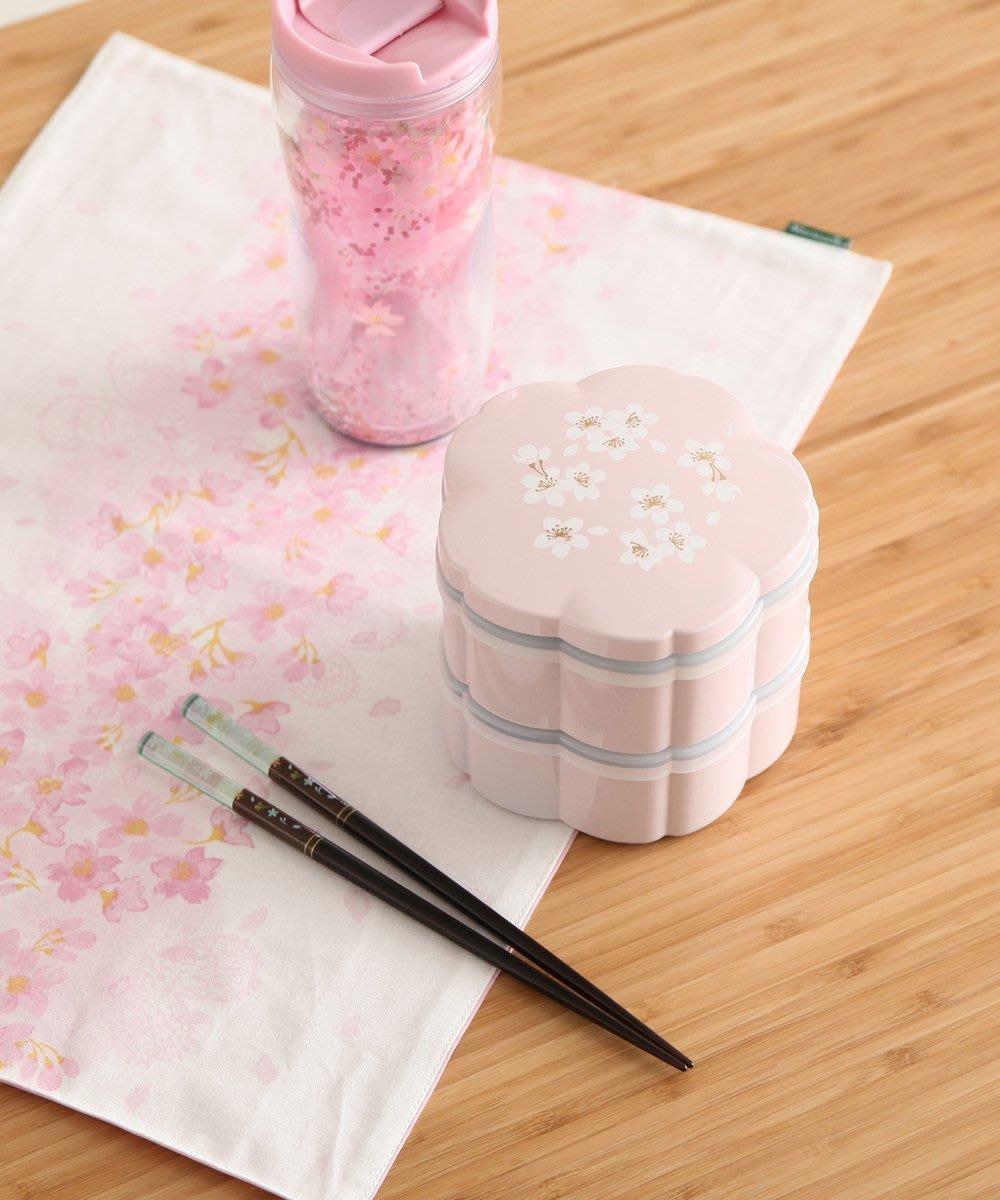 Ariels Wish日本Afternoon Tea限定春櫻浪漫粉紅色櫻花杯雙層便當盒野餐盒子-日本製-絕版品最後一組