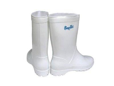 雨鞋 朝日牌白色女用雨鞋-特製耐力膠-有內襯-台灣製造【小潔大批發】耐磨-好穿-批發價