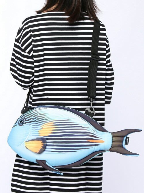 發現新魚種~療癒系魚包Fish Bag再到新魚囉.Surgeonfish刺尾鯛魚-3D萌包 亮眼新色新款推出囉