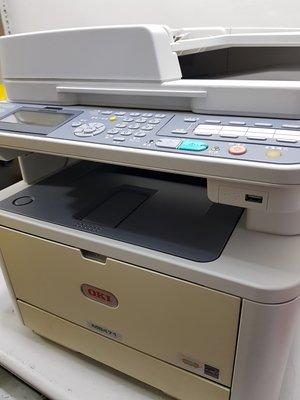 OKI MB471 二手黑白雷射傳真複合機,可雙面影印,雙面列印,高階傳真複合機