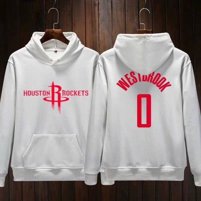 💥威少Russell Westbrook長袖連帽T恤上衛衣💥NBA火箭隊Adidas愛迪達運動籃球服大學棉T男946