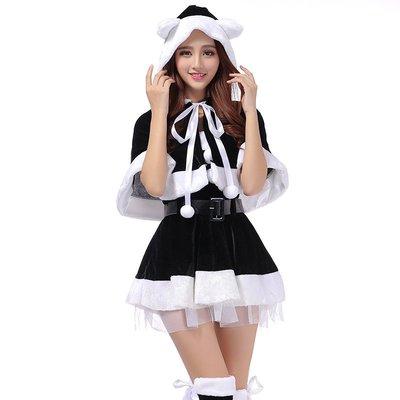東大門平價鋪   可愛貓女斗篷連帽分體裙五件套,表演舞蹈COS服,派對party演出服