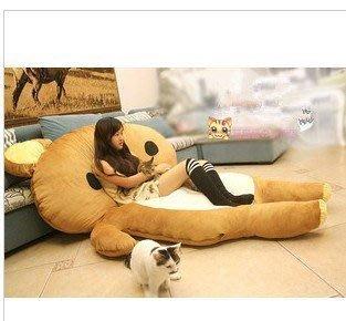【優上精品】超大輕松熊睡墊拉拉熊床墊 懶人床墊沙發 榻榻米 蛇貓機器貓沙發床(Z-P3162)