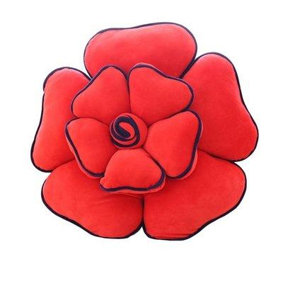 卡通可愛花朵沙發抱枕靠墊床頭靠背客廳家用大號創意汽車靠墊腰靠