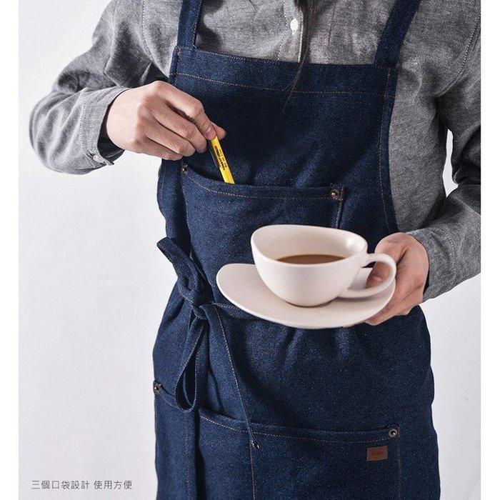 促銷👍 牛仔圍裙 工業風工作圍 裙柔軟舒適 單寧圍裙 廚師圍裙 麵包店圍裙 咖啡店圍裙 工作圍裙