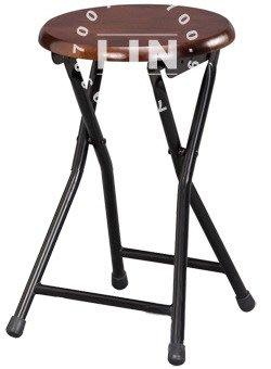 【品特優家具倉儲】R078-007餐椅折凳椅胡桃實木面