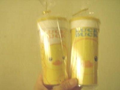 全新Luck duck黃色小鴨隨身杯台灣至每個60