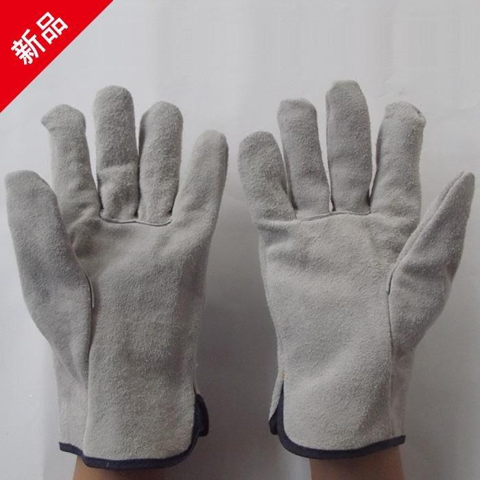 廠家~低價全牛皮防護手套 電焊手套 防滑防割手套  勞保手套 焊接手套