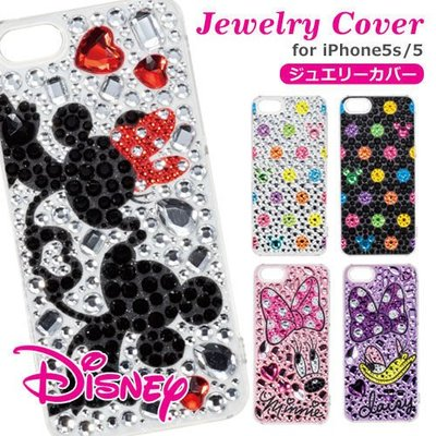 尼德斯Nydus~* 日本正版 迪士尼 Disney 米奇 米妮 唐老鴨黛西 水鑽  手機殼 iPhone5 5S 共五款
