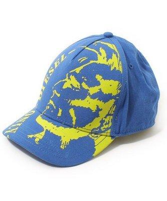 超人氣品牌DIESEL,畢卡索風人型圖騰造型小顏款棒球帽,後面扣環DIESEL小LOGO老爸帽全新有吊牌(NO.894)