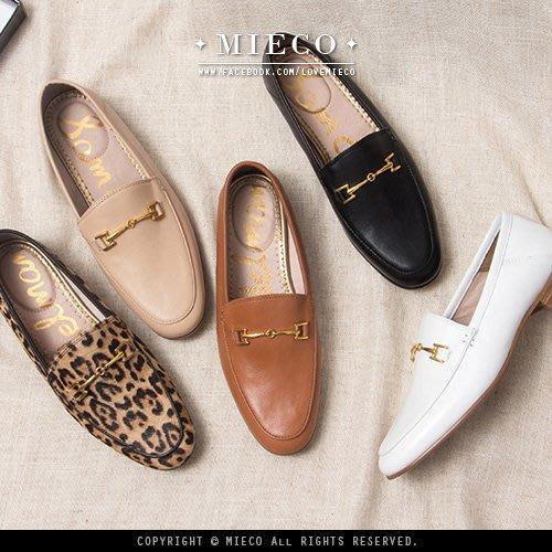 【Mieco】真皮牛皮 復古金屬方釦紳士鞋樂福鞋 Sam Edelman同款// 五色