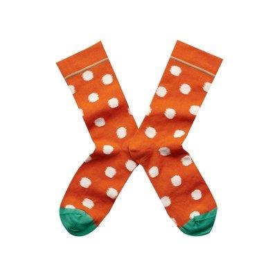 Freaky House-法國Bonne Maison Orange Polka Dot橘色圓點中統襪LY4-01