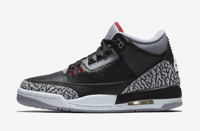 """沃皮斯§Air Jordan 3 Retro OG """"Black Cement"""" BP 黑水泥 中童429487-021"""