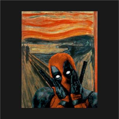 [ Satisfaction ] 美國品牌Teepublic電影卡通滿版T  孟克吶喊的死侍Deadpool