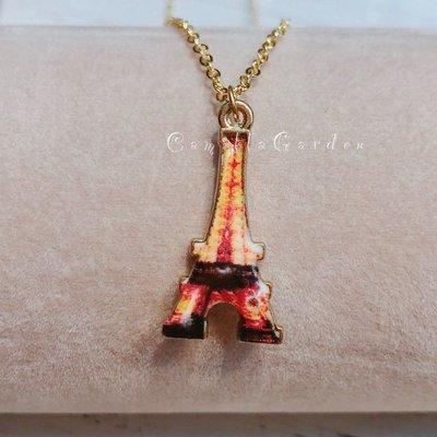 韓國 童話故事 童趣 巴黎 東京鐵塔❖B93❖鎖骨項鍊短項鍊 甜美可愛百搭