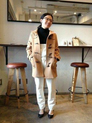現貨 日本質感品牌 NOMBRE IMPAIR 經典cashmere 連帽 超挺 海軍藍 牛角大衣 外套