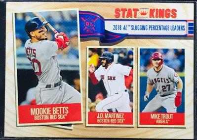 MIKE TROUT BETTS 2019 TOPPS BIG LEAGUE #361 STAT KINGS 特卡