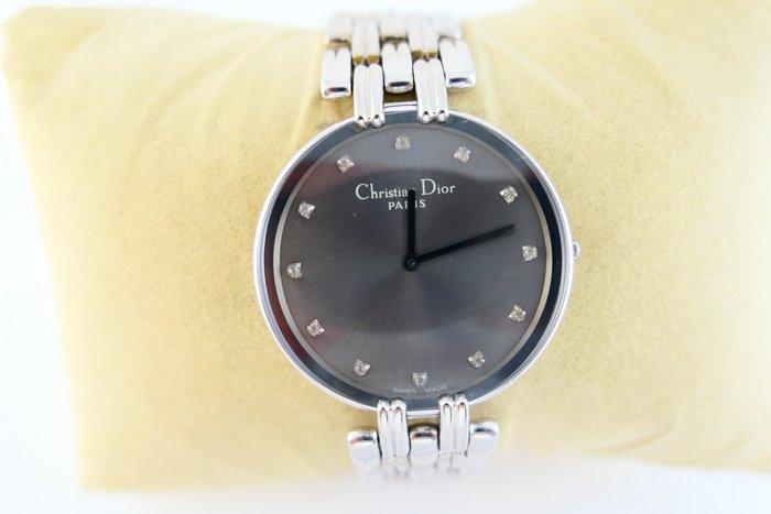 [吉宏精品交流中心]Christian Dior 迪奧 CD 不鏽鋼 真鑽 石英 中性錶