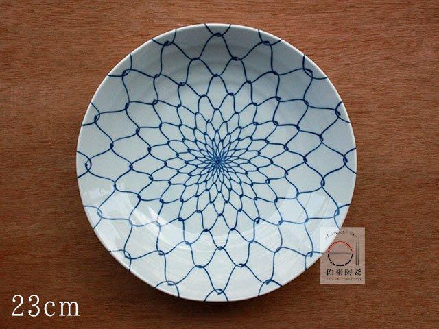 +佐和陶瓷餐具批發+【XL08064-7 / 網目23cm深紋皿-日本製】日本製 網目系列 分裝盤 圓皿