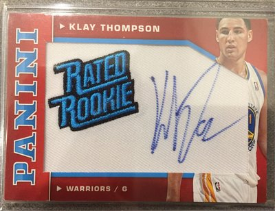 2012-13 Donruss 勇士湯神Klay Thompson 新人 rc 簽名卡 rated rookie /50