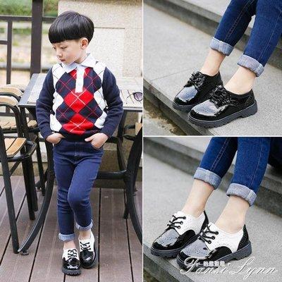 新款兒童學生表演鞋男童黑色皮鞋小男孩英倫風演出單鞋