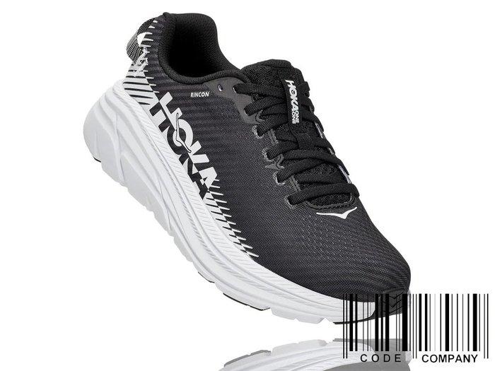 =CodE= HOKA ONE ONE RINCON 2 透氣網布慢跑鞋(黑白) 1110515BWHT 輕量 路跑 女