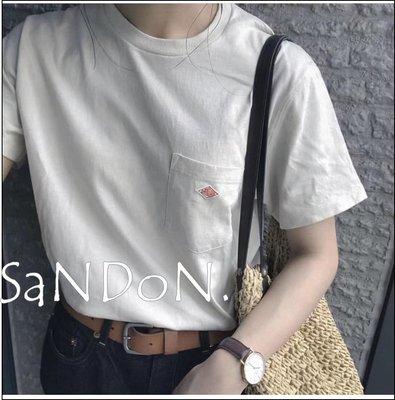 SaNDoN x『DANTON』日常首選TEE 今年新色焦糖 不變形包色必備定制口袋T卹 200501