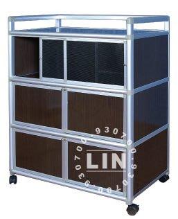 【品特優家具倉儲】P104-07鋁架廚房置物架得意3尺二連一紗