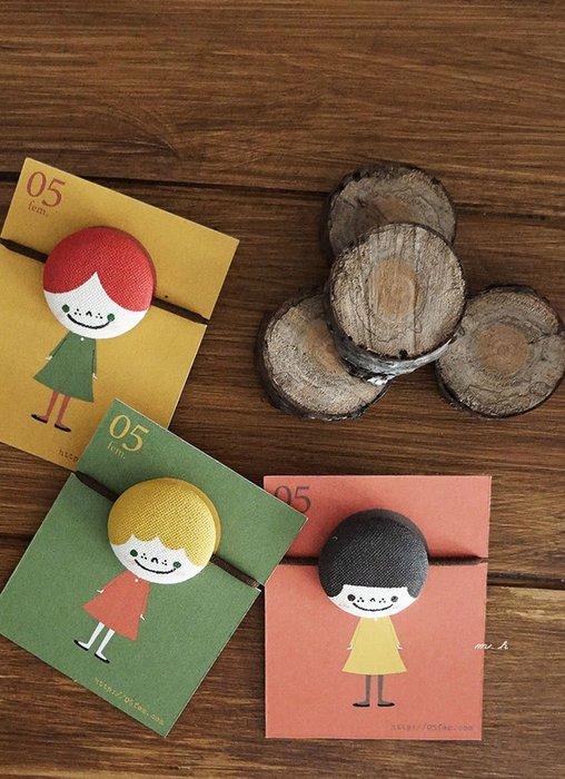 MH選物室 05fem. 日本製 療癒系 女孩們 純手繪 髮式 髮束