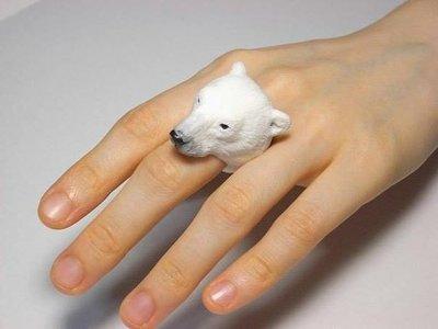 日本Animal Cling動物戒指  北極熊