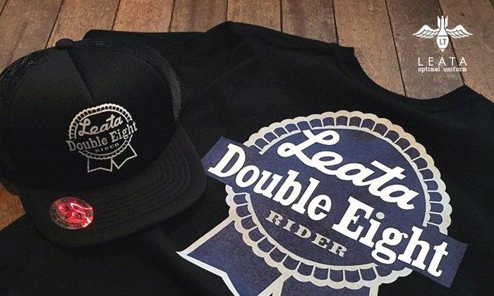 GOODFORIT / 韓國街頭品牌LEATA T-Shirt美國藍帶啤酒美式/M