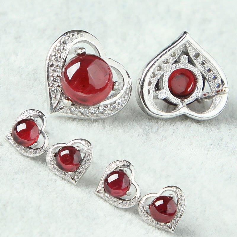 水晶天然玫紅冰種石榴石耳釘S925純銀簡約女款 真正的玻璃體