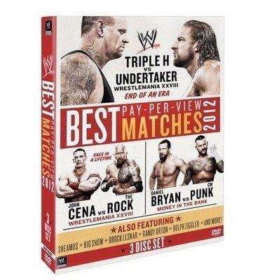 ☆阿Su倉庫☆WWE摔角 The Best PPV Matches of 2012 DVD 2012年度最佳賽事精選專輯 熱賣特價中