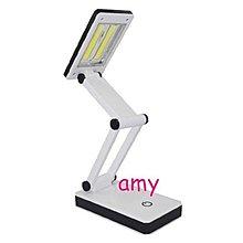 雙供電觸控開關 COB超亮LED摺折疊檯燈/台燈 USB 3號電池/小夜燈/閱讀燈條/桌燈/學習燈/護眼燈露營