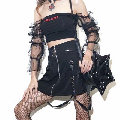 【黑店】女巫系五芒星雙肩帶PU皮包 龐克個性包包 暗黑系穿搭 個性穿搭 五芒星造型包 非品牌商品ZY128