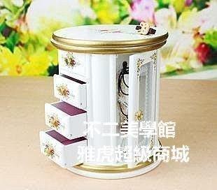 【格倫雅】^首飾盒 木質飾品盒戒指盒歐式公主 生日禮品家庭雜貨收納盒收11919[g-l-y